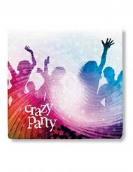 20 tovaglioli di carta crazy party