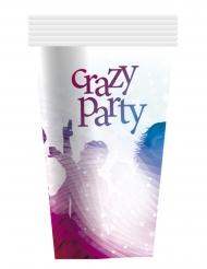 6 bicchieri in cartone crazy party