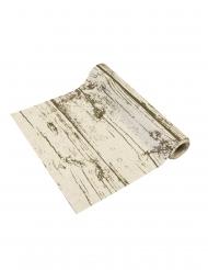 Runner da tavola in tela effetto legno