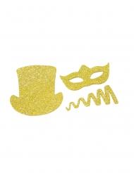 8 coriandoli a forma di cotillon dorati