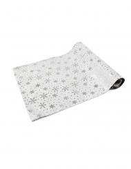 Runner da tavola in tessuto con fiocchi di neve