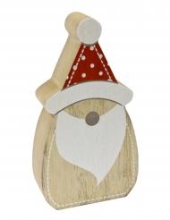 Decorazione di legno Babbo Natale stile nordico