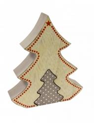 Decorazione di legno albero di Natale in stile nordico