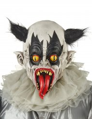 Maschera in lattice da clown nero e bianco per adulto