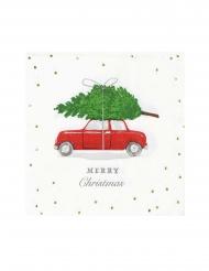 16 tovagliolini di carta macchina di Natale