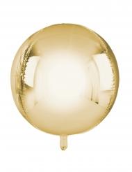 Palloncino alluminio rotondo color oro metallizzato