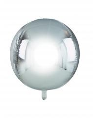 Palloncino alluminio rotondo color argento metallizzato