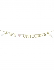 Ghirlanda in cartone We love unicorn
