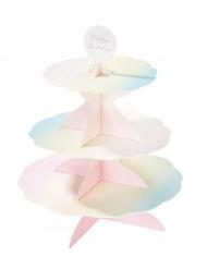 Espositore per cupcake in cartone color pastello
