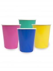 12 bicchieri in cartone colorati