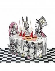 Centrotavola in cartone Alice nel paese immaginario
