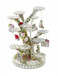 Espositore per cupcakes albero Alice nel paese immaginario