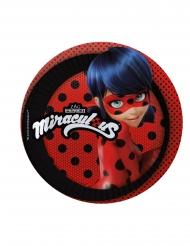 8 piattini rossi in cartone Ladybug™ 19 cm