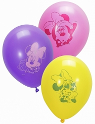 10 palloncini in lattice rosa e bianchi Minnie™
