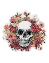 Decorazione per parete scheletro floreale