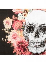 12 tovaglioli di carta scheletro floreale