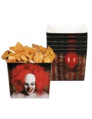 6 ciotole in cartone clown terrificante