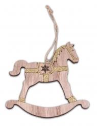 Cavallo a dondolo in legno da appendere