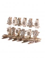 24 mollette albero di Natale in legno