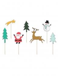 7 stecchini decorativi natalizi