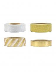 4 washi tape bianchi e oro