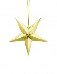 Decorazione da appendere in cartone stella dorata