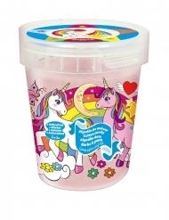 Barattolo di zucchero filato a tema unicorno