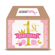 Kit classico decorazioni 1 anno rosa e oro