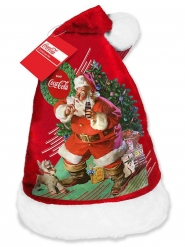 Cappello in velluto Babbo Natale della Coca Cola™