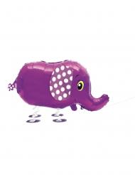 Palloncino alluminio elefante viola