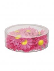 20 fiori sintetici rosa e gialli