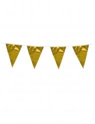 Ghirlanda con mini bandierine oro