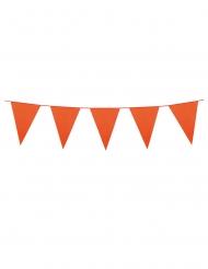 Ghirlanda con mini bandierine arancioni