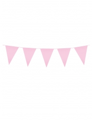 Ghirlanda con mini bandierine rosa chiaro