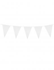 Ghirlanda con mini bandierine bianche