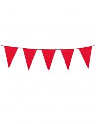Ghirlanda con mini bandierine rosse