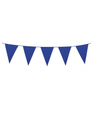 Ghirlanda con mini bandierine blu