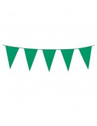 Ghirlanda con mini bandierine verdi