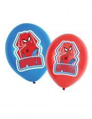6 palloncini in lattice Spiderman™ rossi e blu