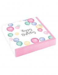 20 tovagliolini di carta palloncini pastello