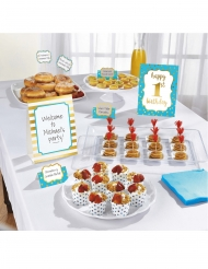 Kit decorazioni per buffet 1st Birthday blu