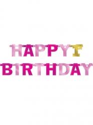 Ghirlanda 1st Birthday rosa e oro