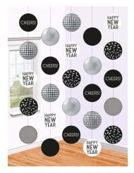 5 sospensioni sfere disco Capodanno