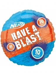 Palloncino alluminio Nerf™ blu e arancio