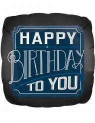 Palloncino alluminio quadrato Happy Birthday to you