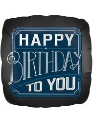 Palloncino alluminio blu Happy Birthday to you