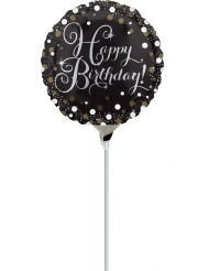 Palloncino alluminio Happy Birthday scintillante