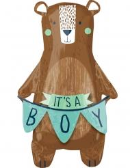 Palloncino alluminio orso bruno It's a boy