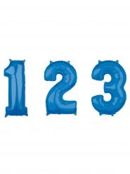 Palloncino di alluminio blu numero