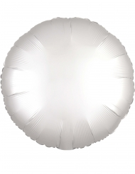 Palloncino alluminio rotondo bianco